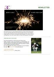Newsletter Nr. 4, 23. Dezember 2010 - Caligari Golf Equipment AG