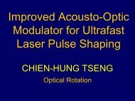 Improved Acousto-Optic Modulator for Ultrafast Laser Pulse Shaping
