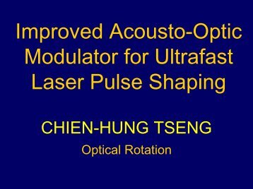 Improved Acousto-Optic Modulator for Ultrafast Laser Pulse Shaping