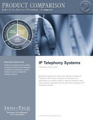 IP Telephony Systems - Info-Tech Research