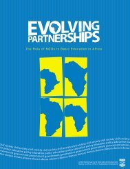 The Role of NGOs in Basic Education in Africa civil society civil ...