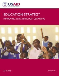 USAID Education Strategy - Improving Lives Through Learning