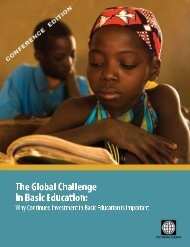 The Global Challenge in Basic Education