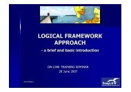 Logical Framework Approach - brief introduction