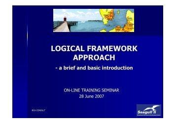 Logical Framework Approach - brief introduction