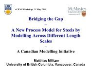 Bridging the Gap – A New Process Model for Steels by ... - alemi.ca