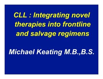 CLL - 11TH ANNUAL INDY HEMATOLOGY REVIEW