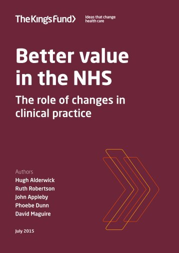 better-value-nhs-Kings-Fund-July 2015