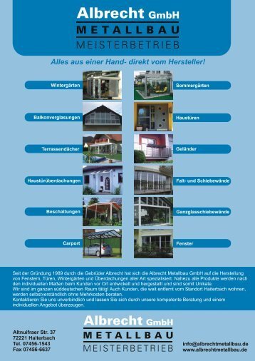Seite 01_12.cdr - Albrecht Metallbau GmbH