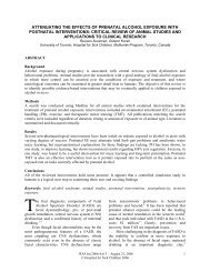 Attenuating the Effects of Prenatal Alcohol Exposure with ... - Motherisk