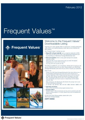 February 2012 - Frequent Values
