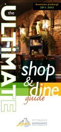Shop and Dine Guide - The Pittsburgh Downtown Partnership
