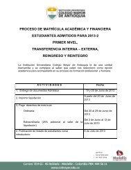 proceso de matrícula académica y financiera estudiantes admitidos ...