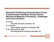 Elemental Partitioning Characteristics Across ... - alemi.ca