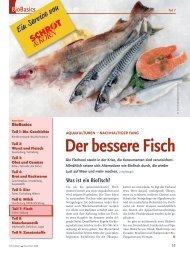 Bio-Basiswissen: Aquakulturen/Fisch (Schrot&Korn 11/2008)