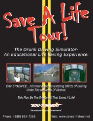 The Drunk Driving Simulator- An Educational Life Saving Experience.