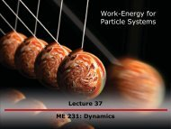 Work-Energy for Particle Systems