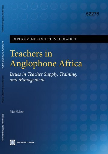 issues in teacher supply, training, and management - World Bank