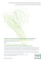 Shareholder Circular - Insight Investment