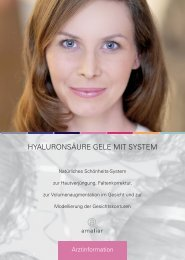 HYALURONSÄURE GELE MIT SYSTEM - Skin & Vision