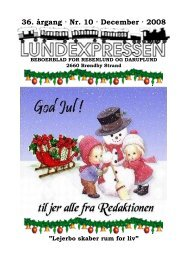36. årgang · Nr. 10 · December · 2008 - lundens.net