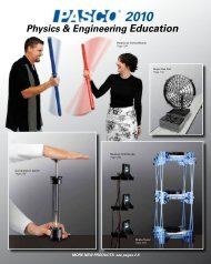 Physics & Engineering Education - Products - PASCO Scientific