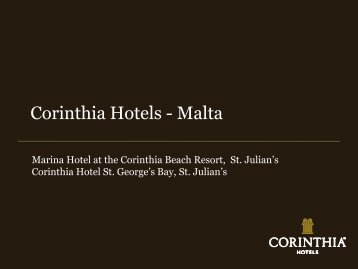Corinthia Hotels - Malta - Euresearch