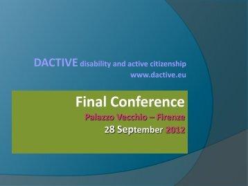 Final Conference P8 - dactive.eu