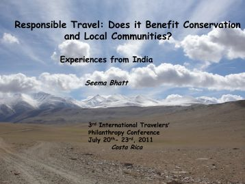 Responsible Travel: Does it Benefit Conservation and Local ...