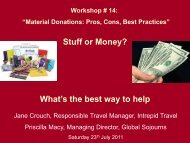 Material Donations - Pros, Cons and Best Practices - Travelers ...