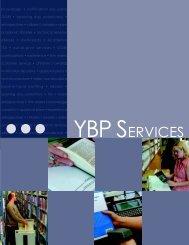 knowledge • notification slip plans GOBI • opening day ... - YBP.com