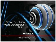 Space Curvilinear (Three-Dimensional) Motion