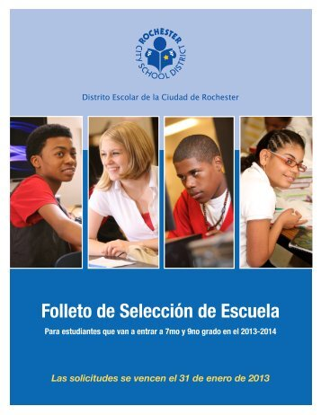 Folleto de Selección de Escuela - Rochester City School District
