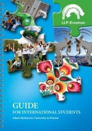 LLP-ERASMUS guide - Uniwersytet im. Adama Mickiewicza