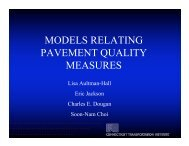 MODELS RELATING PAVEMENT QUALITY MEASURES - neaupg
