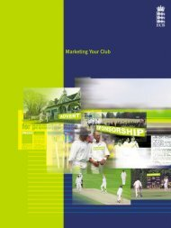 Marketing Your Club - Ecb - England and Wales Cricket Board (ECB)