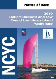 Notice of Race - Newcastle Cruising Yacht Club