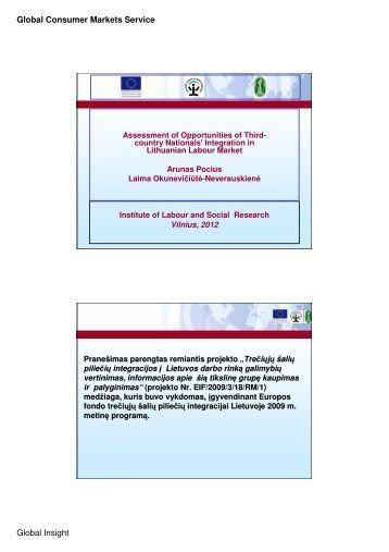 Global Consumer Markets Service Global Insight - integra-project.eu