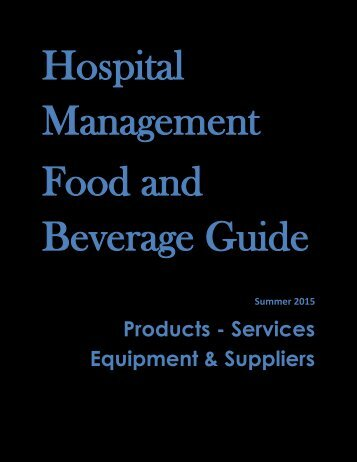 Hospital Management Food and Beverage Guide