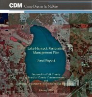 Lake Hancock Restoration Management Plan - Polk.WaterAtlas.org
