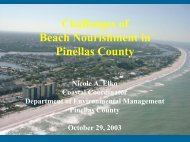 Challenges of Beach Nourishment in Pinellas County - Tampa Bay ...