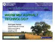 Warm Mix Asphalt Technology - neaupg
