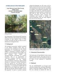 Stream EcoSummary: Lake Marion Creek - Polk County Water Atlas