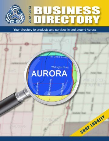 2012 / 2013 Business Directory - Aurora Chamber of Commerce