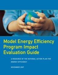Model Energy Efficiency Program Impact Evaluation Guide (PDF