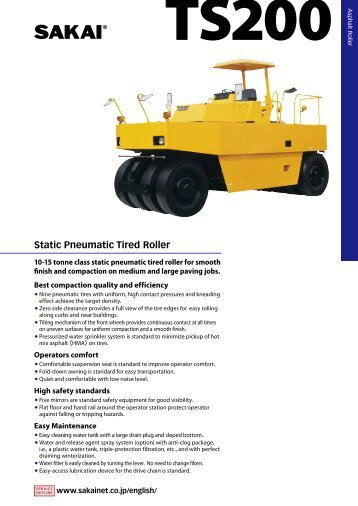Static Pneumatic Tired Roller