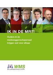 Brochure voor ouders in de MR - Wet medezeggenschap op scholen