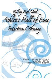 2012 HHS Athletic Hall of Fame Induction Ceremony Program.indd