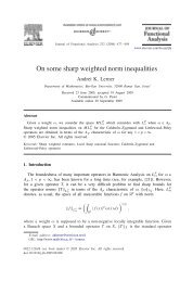 On some sharp weighted norm inequalities