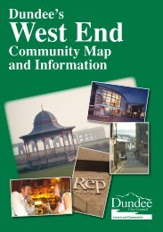 West End Community Map and Information, Dundee City Council ...